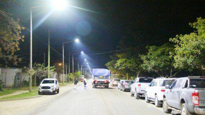 Con la nueva iluminación también se vió favorecido el barrio Iturbide.