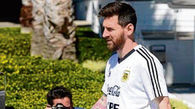 Participativo. El capitán Messi.