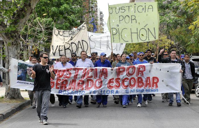 La marcha de ayer a la Fiscalía. (foto: Virginia Benedetto)