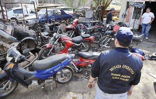 Secuestradas. En el lugar había motos de todas las marcas y cilindradas.