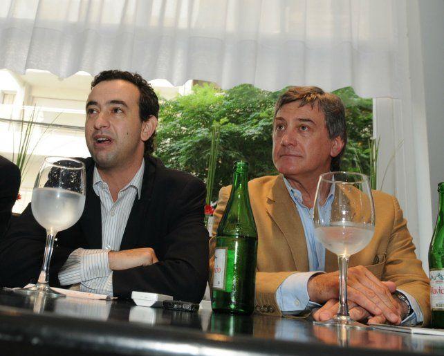 Javkin y Boasso hicieron campaña juntos en 2011. El primero para senador provincial y el segundo como precandidato a intendente de la ciudad. (Foto de archivo)