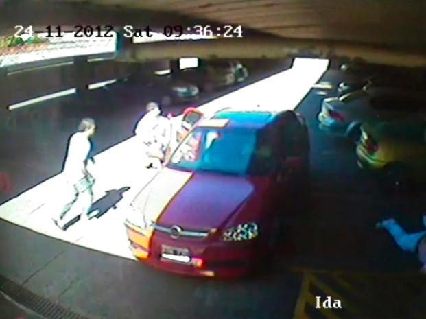 Una cámara registró paso a paso los momentos del crimen de Serra.