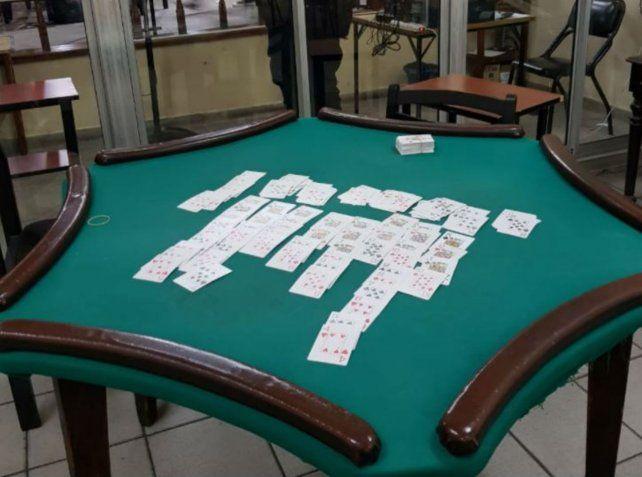 Una mesa de juego