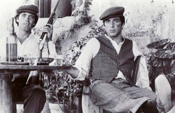 """Figura. Citti junto a Al Pacino en """"El padrino"""""""