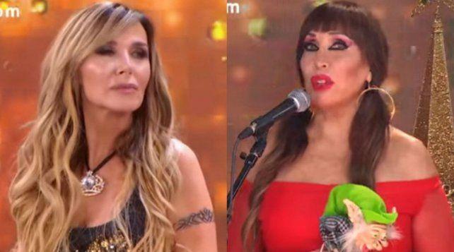 De frente. Moria Casán le recordó a la cantante el rumor sobre el romance que habría tenido con Alfonsín.