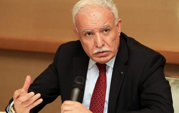"""Advertencia. El canciller palestino Ryad al Malki aseguró que su nación """"busca justicia"""