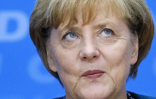 Estado de gracia. Merkel sonríe ayer