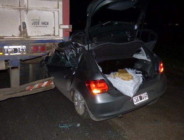El auto sufrió graves daños