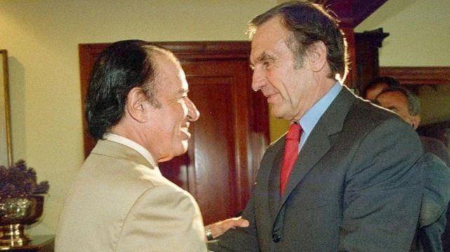 Carlos Menem y Carlos Reutemann