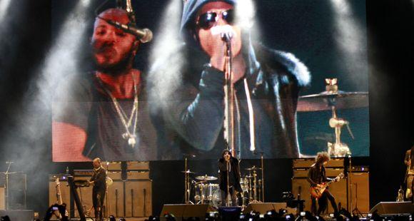 Todo el groove de Lenny Kravitz en la fría y ventosa noche de Palermo
