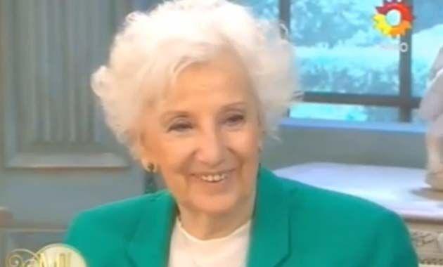 Estela de Carlotto fue la invitada de Mirtha en su programa de almuerzos.