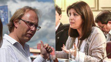 Saglione y García presentaron ayer el Informe Fiscal 2020 e hicieron foco en la deuda.