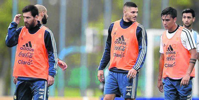 Juntos son dinamita. Los rosarinos Messi e Icardi junto a Dybala
