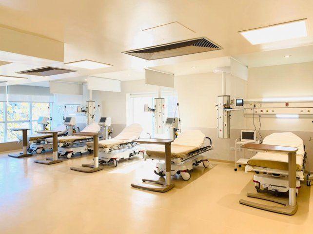 La flamante sala de terapia intensiva del Sanatorio de Niños cuenta con la última tecnología.