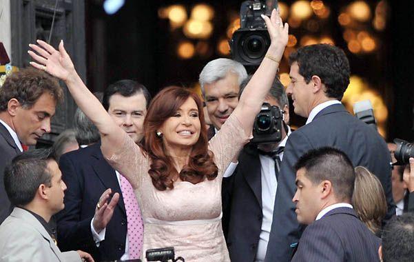 """Un largo adiós. Fernández desafió a quienes aspiran a sucederla: """"Que digan qué harán con las privatizaciones""""."""