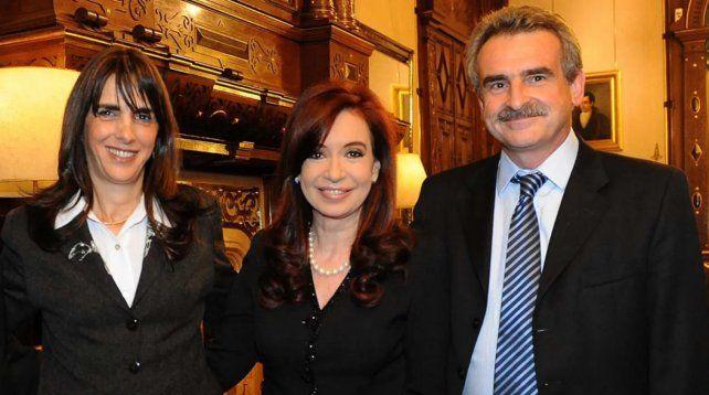 María Eugenia Bielsa y Agustín Rossi
