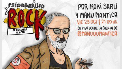 Invitan a la charla Psicoanálisis y rock