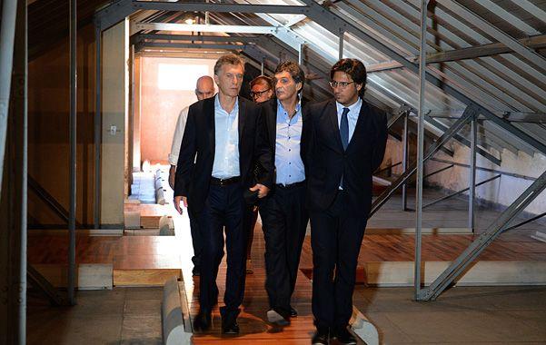 Haciendo memoria. Macri recorrió el ex centro de detención ilegal. (DyN)