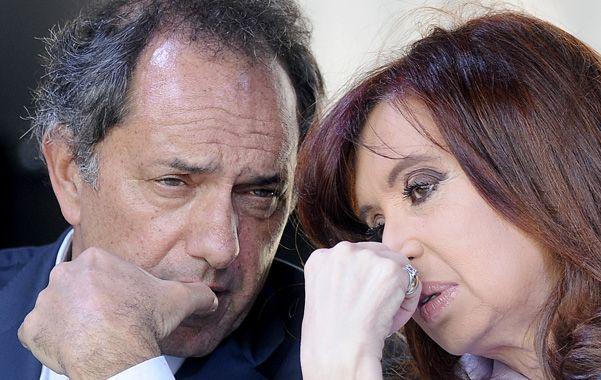 Él y ella. Scioli y Cristina mostraron en público buena sintonía