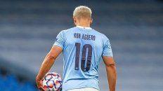 El Kun Agüero no jugó en el Manchester City por ser contacto estrecho de un positivo de Covid-19.