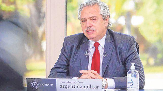 descargo. Fernández aprovechó el anuncio de obras en provincias para opinar sobre la marcha opositora.