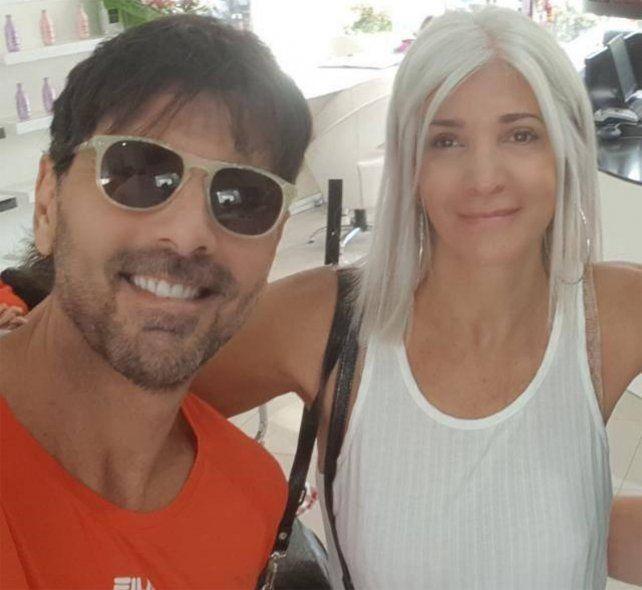 Juan Darthés y su esposa