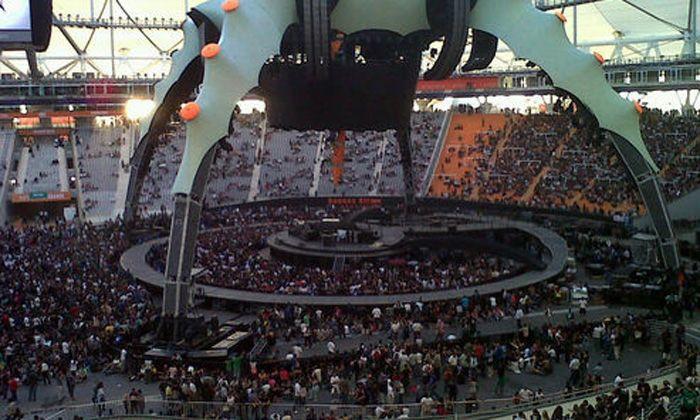 U2 deslumbró a una multitud y Bono recordó a Cerati: El oirá nuestras voces (Fotogaleria)