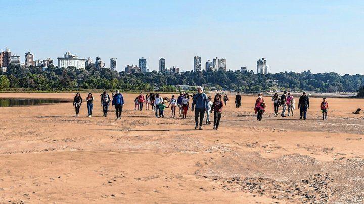 La bajante histórica del Paraná impulsó una nueva propuesta turística.