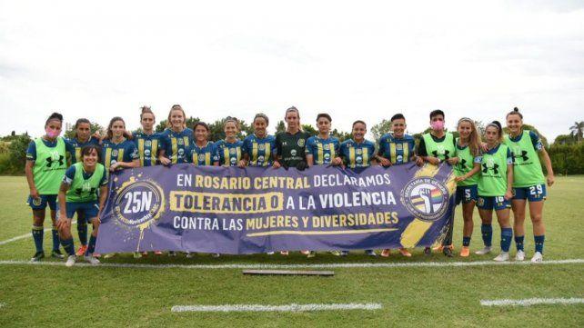 Jugadoras y jugadores canallas se manifestaron contra la violencia de género