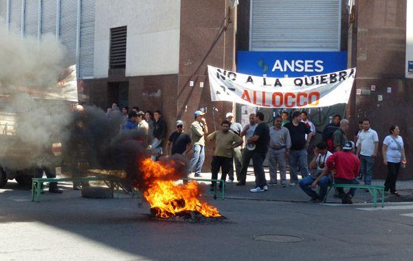 Protestas. Los reclamos de los operarios se repitieron todo el año pasado.