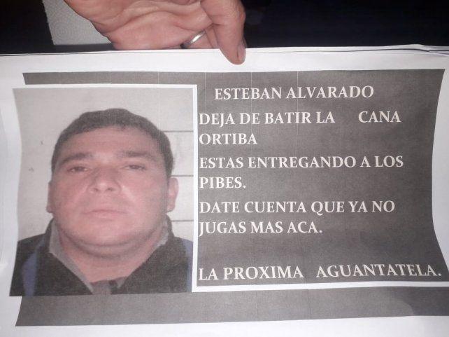 El mensaje dirigido a Alvarado.