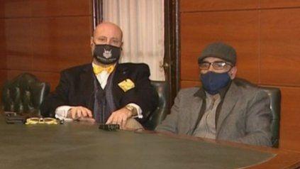 El abogado Luis Rossini y el empresario Leonardo Peiti, acusado de dirigir organizaciones de juego clandestino en la provincia.