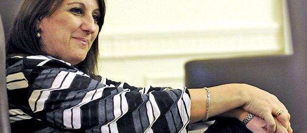 Lo que fue.  Mónica Fein admitió que se trató de un año complejo para quienes tienen la tarea de administrar. (foto: Francisco Guillén)