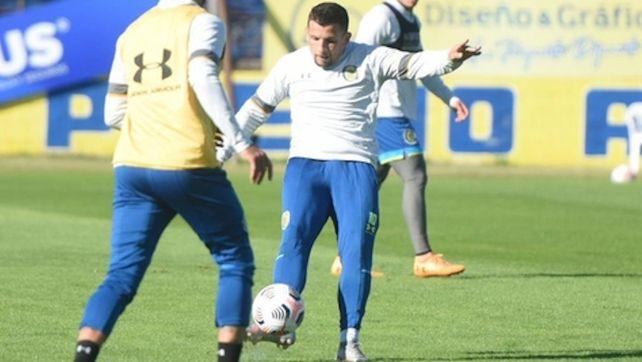 Puesta a punto. Emiliano Vecchio utilizará esta semana para mejorar su forma física de cara al partido ante el taladro.