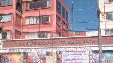 El accidente ocurrió en la Universidad El Alto.