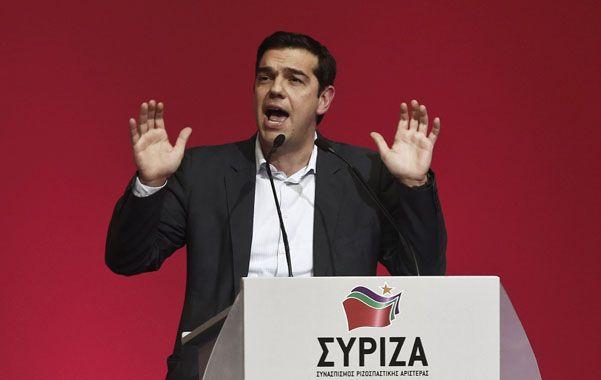 En alza. Alexis Tsipras este sábado en Atenas