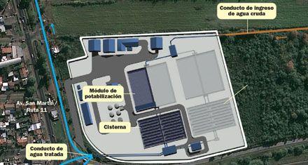 Acueducto Gran Rosario: lanzan hoy la licitación de la planta potabilizadora