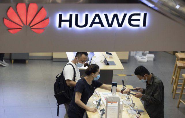 ¿Sin Futuro? Un negocio de la firma Huawei en la ciudad de Pekín.