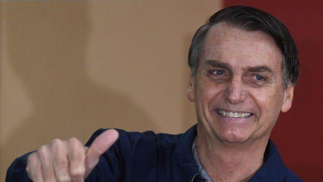 Confiado. Bolsonaro logró un resultado histórico que le da chances muy grandes de ser el próximo presidente.