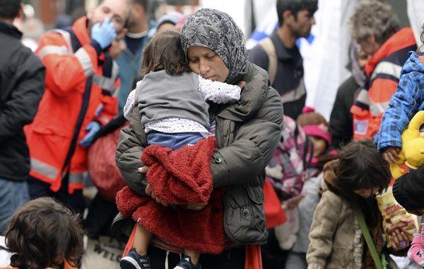 Entre el sábado y el domingo 15.500 refugiados llegaron a la estación de tren de Múnich.