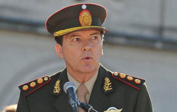 """En la mira. El general Milani afirmó que """"los sectores conservadores creen que las Fuerzas Armadas son sus aliadas""""."""