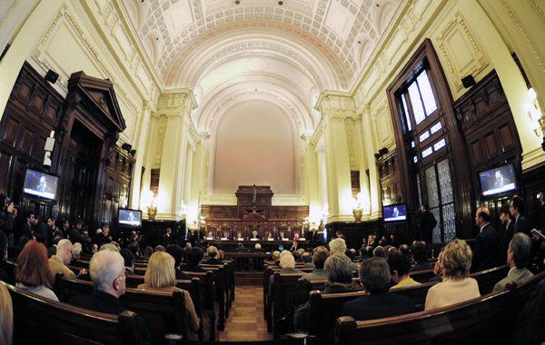 La audiencia se realizó en el cuarto pido del palacio de Tribunales porteño.
