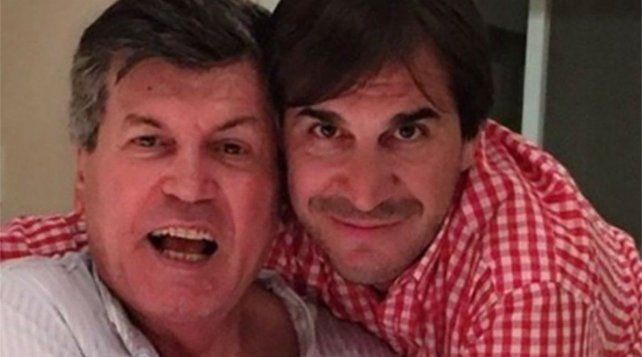 Juntos. Carlín Calvo y Javier Faroni cultivaron una amistad que permaneció inalterable por años.