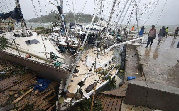 Desolador. La región fue barrida por vientos de 320 kilómetros por hora.