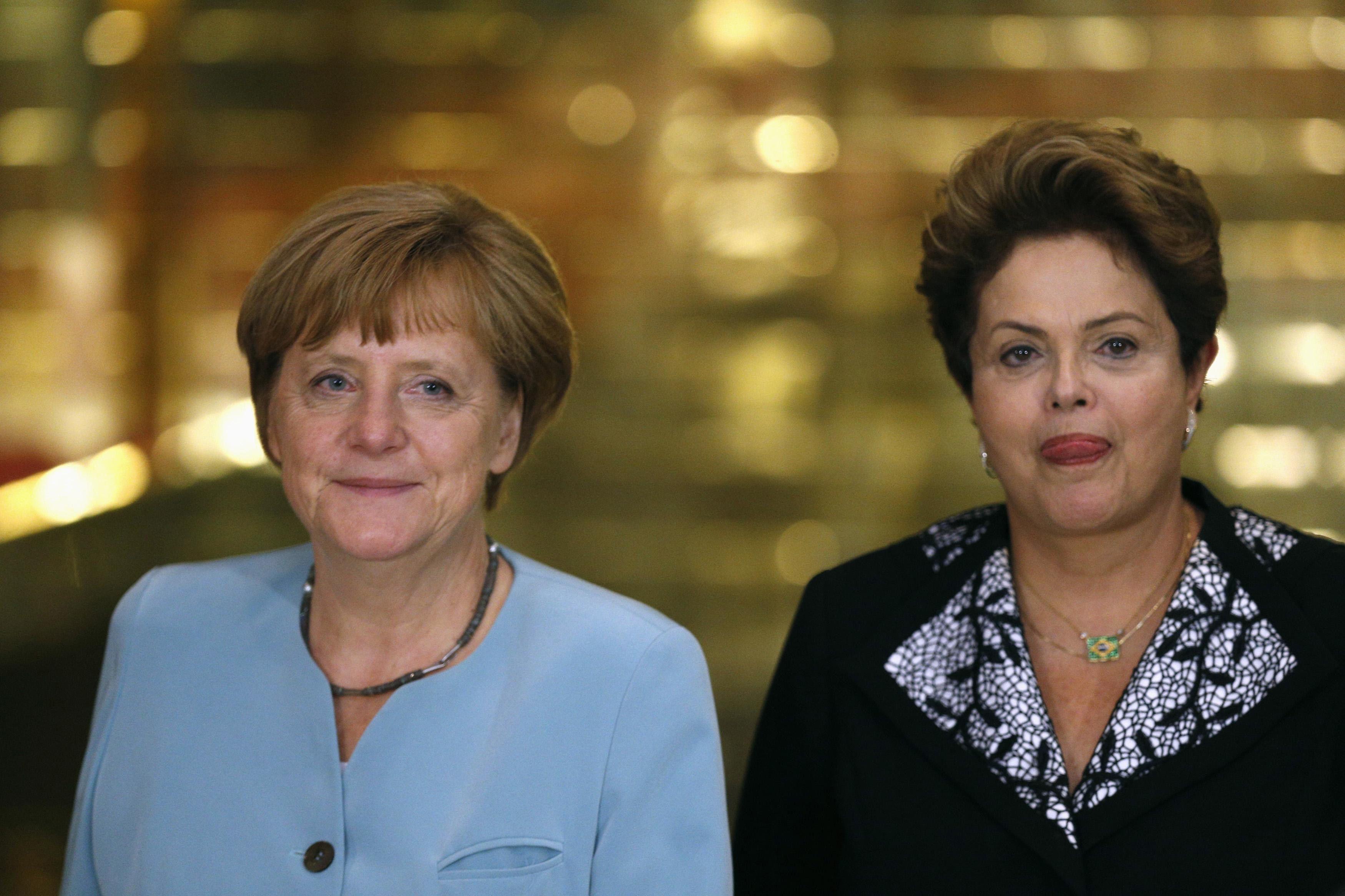 Crucial visita. La presidenta Rousseff ya recibió a Angela Merkel en junio de 2014