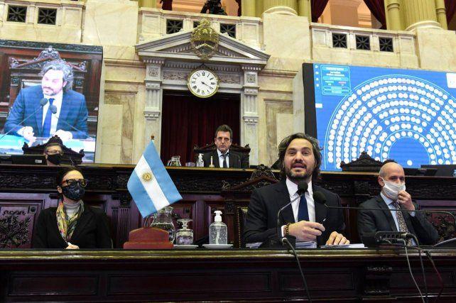 Diputados: seguí en vivo el informe del ministro Santiago Cafiero