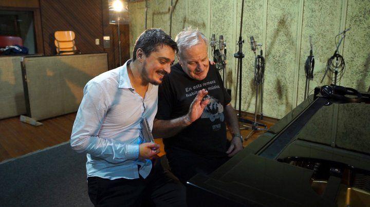 DUPLA. El armoniquista rosarino Franco Luciani y el pianista y director de orquesta José Pepe Colángelo.