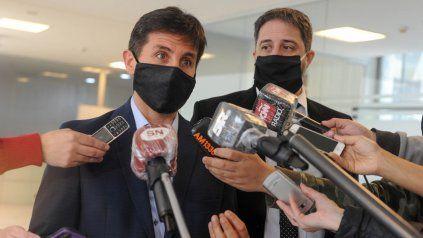 Los fiscales de Criminalidad Organizada Luis Schiappa Pietra y Matías Edery.