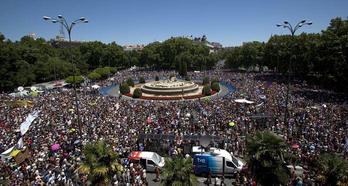 Los indignados españoles no se detienen y ahora regresan a las calles de Madrid