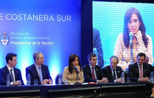 Cristina Kirchner encabezó esta tarde un acto en el que exaltó la recuperación de bienes del Estado.
